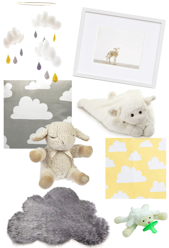 Fluffy Cloud & Lamb Details for the Nursery