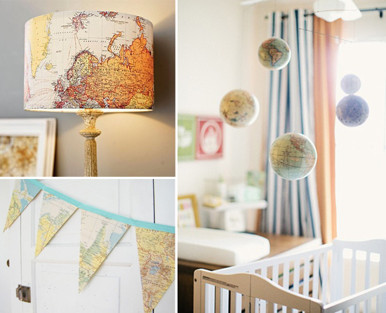 decorating children 39 s spaces with maps globes by mini piccolini