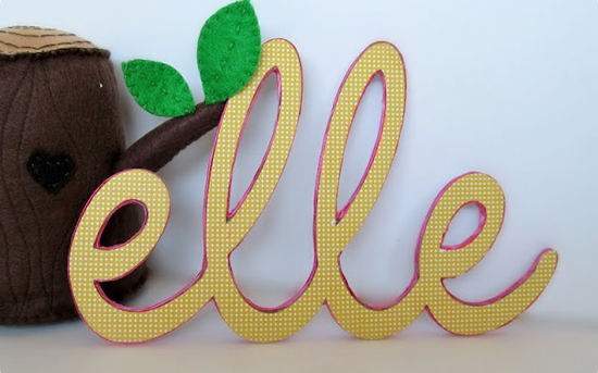 Mini Piccolini - DIY Baby Name Signs