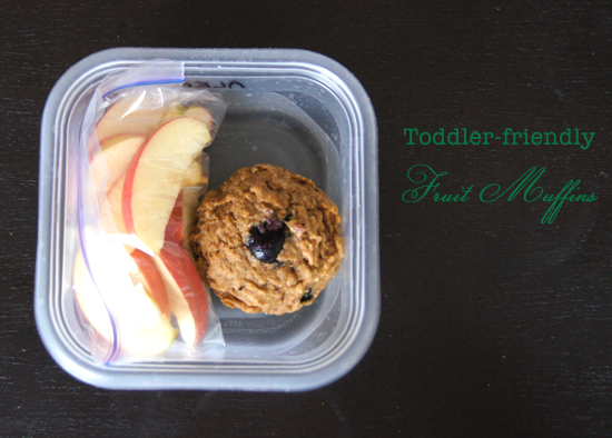 Mini Piccolini - Baby & Toddler Friendly (sugar-free!) Fruit Muffins