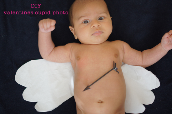 DIY Baby Cupid Valentines Photo