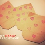DIY Heart Potato Stamp for Valentines Day
