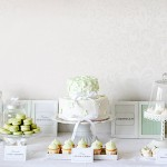 Foodie Friday: Gorgeous Pastel Green and Soft White Dessert Table