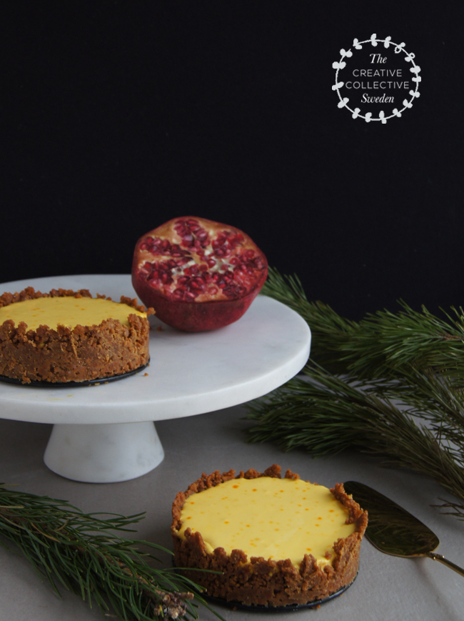 Mini Piccolini | No-Bake Saffron Cheesecake with a gingersnap crust