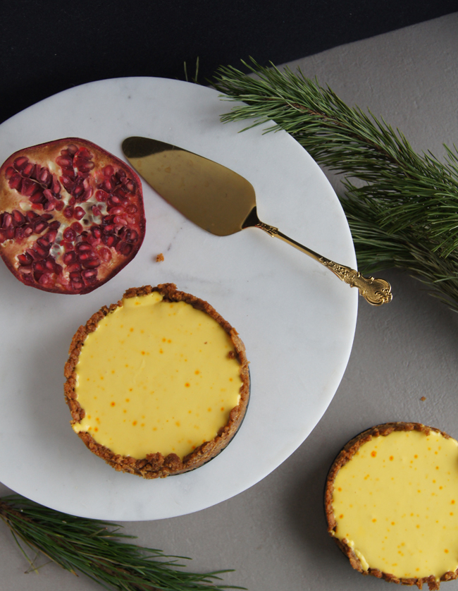 Mini Piccolini | No-bake Saffron Cheesecake with a Ginger Snap crust