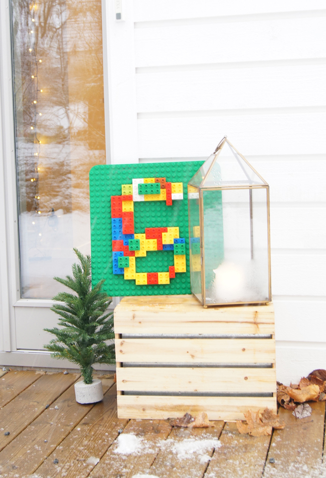 Mini Piccolini | LEGO theme birthday party welcome sign