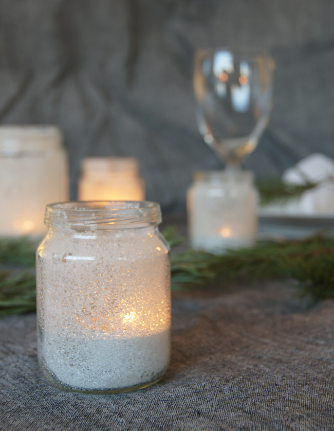 Mini Piccolini | Make sugar-frosted jam jar lanterns for a truly Scandinavian Christmas